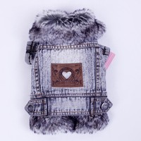 2016 High Quality Cowboy Cotton Dog Clothes Winter Small Dog Coat And Jacket Pet Clothing XXL Dogs Costume Thicken Overcoat