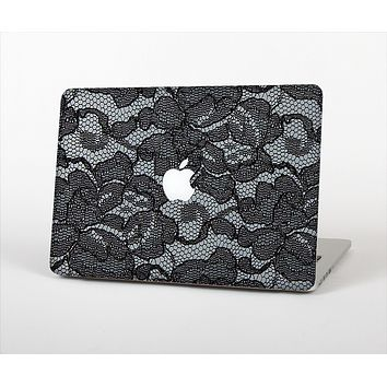 """The Black Lace Texture Skin Set for the Apple MacBook Air 11"""""""