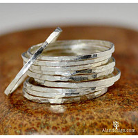 Super Thin Sterling Silver Stackable Rings