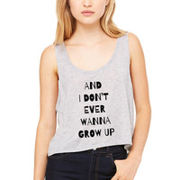 """Shawn Mendes """"Kid in Love - And I Don't Ever Wanna Grow Up"""" Boxy, Cropped Tank Top"""