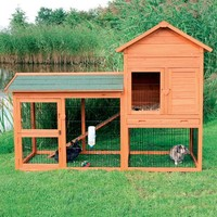 TRIXIE Rabbit Hutch with Outdoor Run - Small | www.hayneedle.com