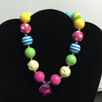 Rainbow Chunky Necklace