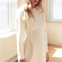 Silence + Noise Lace-Up Side Corset T-Shirt Dress | Urban Outfitters