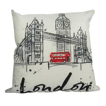 London Bridge   London England   Pillow Cover   British Flag   Throw Pillow   Home Decor   Gifts for Travelers   Unique Friend Gift