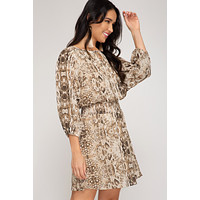 Brinnley Snakeskin Dress