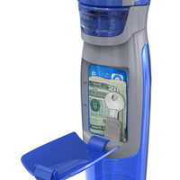 Cool Stuff - Contigo AUTOSEAL Kangaroo Water Bottle with Storage Compartment, 24-Ounce, Blue