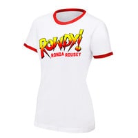 "Ronda Rousey ""Rowdy Ronda Rousey"" Women's Authentic T-Shirt"