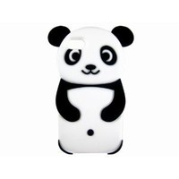 Cute 3D Cartoon Panda Animal Silicone Protective Case Cover for iPhone 5 Black