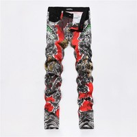 Casual Pants Summer Men Print Stylish Korean Costume [6541752707]