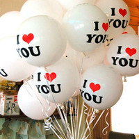 10pcs/lot Romantic 12 inch Pearl Latex Balloon I LOVE YOU Balloons Christmas Wedding Decorations