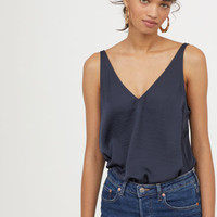 H&M V-neck Satin Camisole Top $17.99