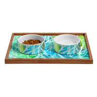 Rosie Brown Coral View Pet Bowl and Tray