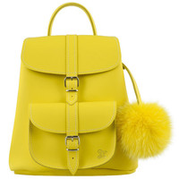 Grafea Sunny Yellow Leather Baby Backpack