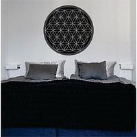 Flower of Life Version 1 Sacred Geometry Decal Sticker Wall Vinyl