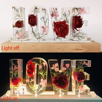 Electrifying LED Light Floral Glass Made Home Decor