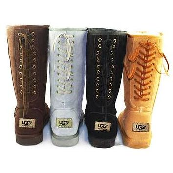 UGG Fashion Women Wool Snow Boots After Lace-Up Half Boots Shoes