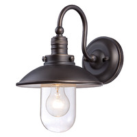 Minka-Lavery 71163-143C Downtown Edison Oil Rubbed Bronze with Gold Highlights One-Light Outdoor Wall Mount