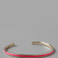 LONDON THREADED BANGLE IN NEON PINK
