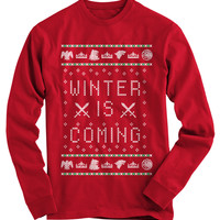 Winter Is Coming Ugly Christmas Sweater - On Sale