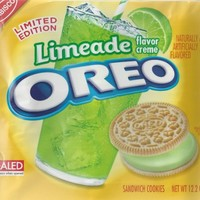 NEW Limeade Flavor Creme Oreos - Limited Edition for Summer 2014, 12.2oz