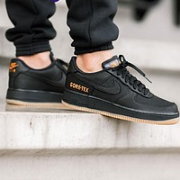 Nike Air Force 1 AF1 GTX Trending Men Women Leisure Sport Running Shoes Black