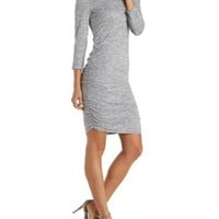 Heather Gray Ruched Sweater Dress by Charlotte Russe