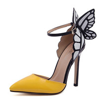 Butterfly wing fashion high heels