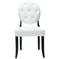 Modway Button Dining Chair In White EEI-815-WHI