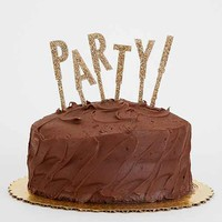 Alexis Mattox Design Party! Letter Cake Topper- Gold One