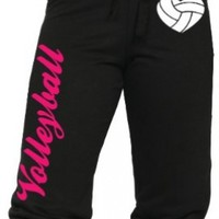 Volleyball Capri with Heart Shaped Volleyball Juniors Sizing S-L