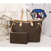 LV Louis Vuitton MONOGRAM CANVAS LARGE NEVERFULL HANDBAG TOTE BAG