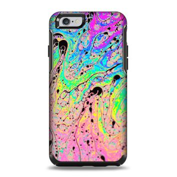 The Neon Color Fushion with Black splatters Apple iPhone 6 Plus Otterbox Symmetry Case Skin