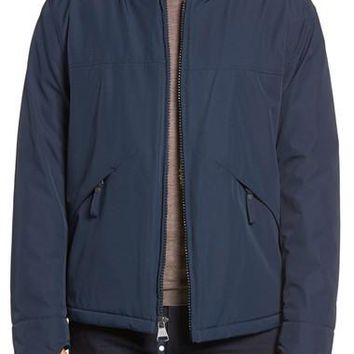 by Andrew Marc Dalton City Rain Bomber Jacket with Faux Shearling Lining