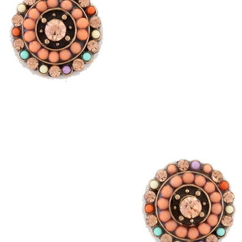 Nature Walk Studs in Coral
