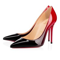 Decollete 554 100mm Black-Red Patent Leather