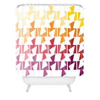 Karen Harris Bravo Warm Shower Curtain