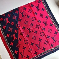 Louis vuitton LV new letter color matching silk satin long scarf silk scarf