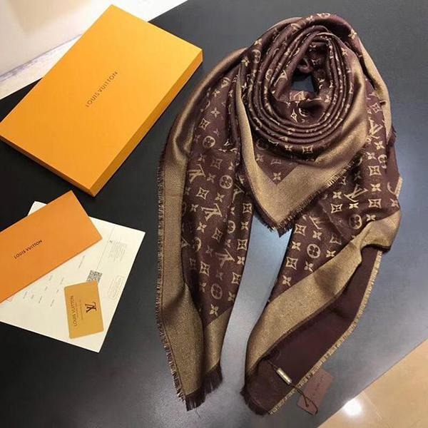 Image of LV Women Smooth Cashmere Warm Winter Cape Scarf Scarves