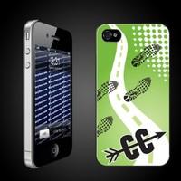 """Sports iPhone Design """"Cross Country Logo Path"""" - CLEAR Protective iPhone 4/iPhone 4S Hard Case"""