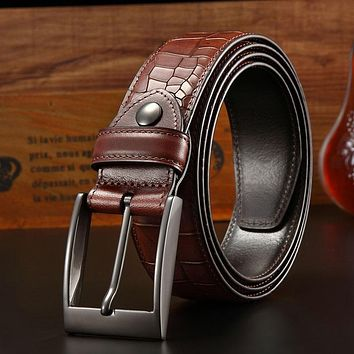 Genuine Leather Belt For Men Three Colors Male Jeans Cow skin Belts