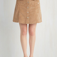 60s Short Length A-line After Dinner Cord-ials Skirt by ModCloth