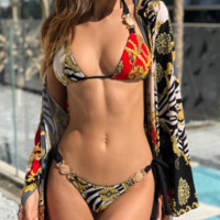 Spring and summer fashion swimwear women's sexy split swimsuit low waist thong hot sale