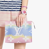 LV 3AAA Gradient Color Casual Simple Clutch Wash Bag