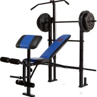Marcy Standard Bench with 120 lb Weight Set
