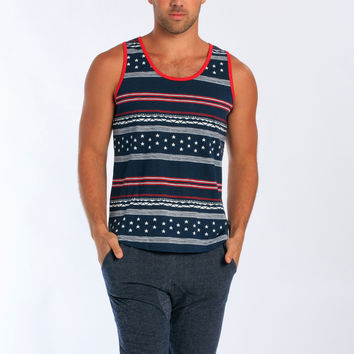 Miami Style® - Men's Stars & Stripes Printed tank top