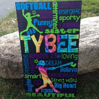 """Personalized Wooden Softball Sign Teen 12x20"""""""