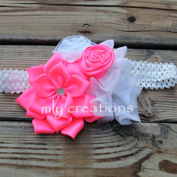 Maternity photo prop, baby shower corsage, baby shower sash, its a girl sash, maternity sash, Hot pink sash, pregnancy sash, belly to birth