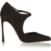 Sergio Rossi - Suede Mary Jane pumps
