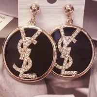 YSL restoring ancient ways fashion exaggerates circle shape ear nail metal piece to match the earring temperamental atmosphere