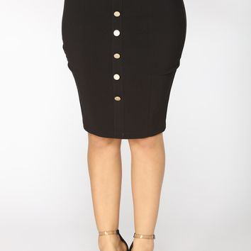 Mercury Retrograde Midi Skirt - Black